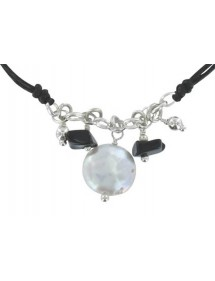 Black cord bracelet with...