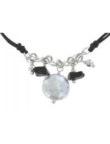 Bracelet cordon noir avec...