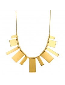 Necklace plastron shapes rectangles steel yellow 317070 One Man Show 62,00€