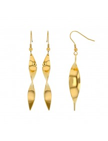 Yellow steel spiral earrings 313071 One Man Show 39,90 €
