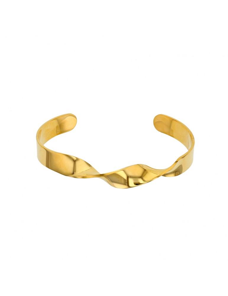 Bracelet rigide spirale en acier doré 318090 One Man Show 34,90€