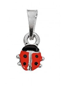 Pendant with a ladybug in rhodium silver Suzette and Benjamin 3160246 Suzette et Benjamin 14,00 €