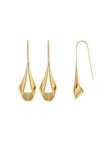 Yellow steel drop earrings 313068D One Man Show 49,90 €