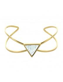 Gelbes Armband aus Stahldreieck und Marmor-Steinimitat 318375 One Man Show 69,90€