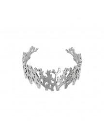 Bracelet manchette inspiration ramure en acier 318022 One Man Show 62,00€