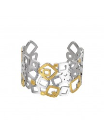 Bracelet square cuff steel and yellow 318088 One Man Show 68,00 €