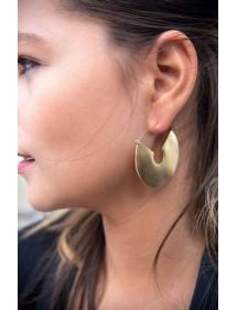 Open round steel earrings