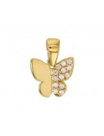 Pendentif papillon ajouré en or et serti d'oxydes de zirconium 396155 Laval 1878 128,00€