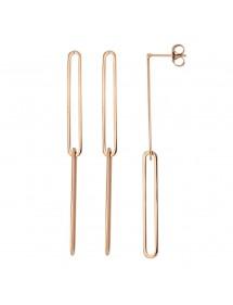 Pink steel trombone dangle earrings 313420R One Man Show 27,00€