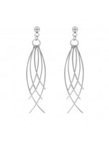 Boucles d'oreilles pendantes en acier fantaisie 3131360 One Man Show 32,00€