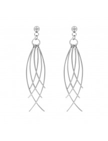 Fancy steel dangling earrings 3131360 One Man Show 32,00 €