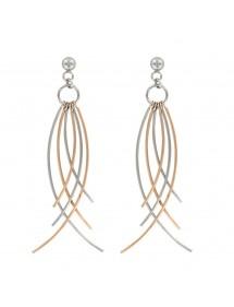 Fancy pink steel drop earrings 3131360R One Man Show 32,00€