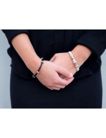Pink steel open bracelet...