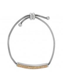 Bracelet en acier avec des cristaux dorés, fermoir coulissant 318325M One Man Show 42,00€