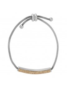 Stahlarmband mit goldenen Kristallen, Schließe 318325M One Man Show 42,00€