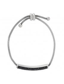 Bracciale in acciaio con cristalli neri, chiusura scorrevole 318325N One Man Show 42,00€