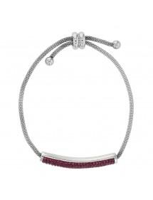 Bracelet en acier avec des cristaux violets, fermoir coulissant 318325V One Man Show 42,00€