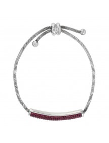 Steel bracelet with purple crystals, sliding clasp 318325V One Man Show 42,00 €