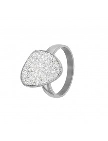 Rounded steel ring decorated with white synthetic stones 46,00 € 46,00 €