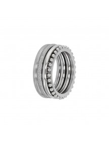Set of 4 steel rings with patterns 311650 One Man Show 58,00 €