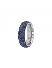 wide blue sequined ring 311647BL One Man Show 45,00€