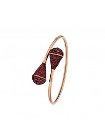 Pink steel bracelet with plum glitter tips 318086RP One Man Show 79,90€