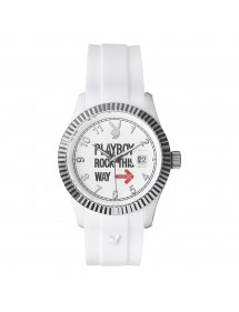 PLAYBOY ROCK 42WW Ladies Watch - White ROCK42WW Playboy 29,90 €