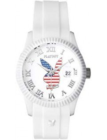 PLAYBOY AMERICA USA 42WW Watch - White USA42WW Playboy 29,90 €