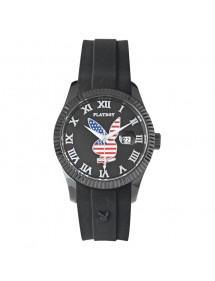 Watch PLAYBOY AMERICA USA 38BB - Black USA38BB Playboy 29,90 €