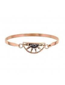 Bracelet demi-soleil en acier doré rose orné de cristaux gris 318019R One Man Show 54,00€