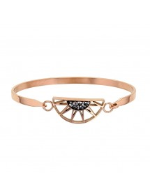 Bracelet half sun rose steel decorated with gray crystals 318019R One Man Show 54,00€