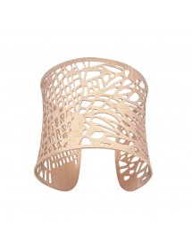 Openwork bracelet with pink steel leaf pattern 318204R One Man Show 49,90 €