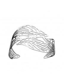 Bracelet manchette en forme de feuilles en acier 318357 One Man Show 44,00€
