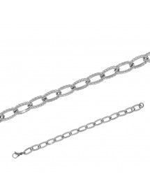 Bracelet mixte en acier brillant 20 cm 31812293 One Man Show 24,50€