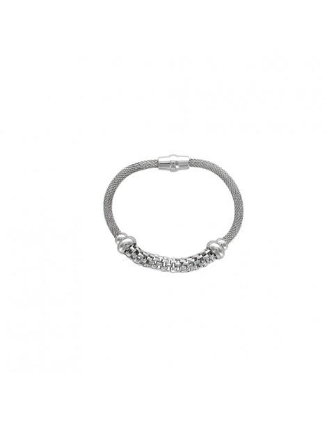 Bracelet en acier avec fermoir magnétique 31812505 One Man Show 33,00€