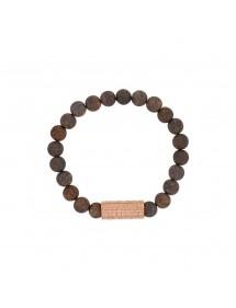Bracelet élastique en perles de Bronzite et acier rose - 18 à 20 cm 39,90€ 39,90€