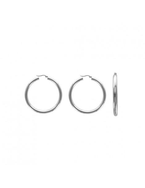 Hoop earrings in steel - ø 4,5 cm and 6 mm wire 3131572 One Man Show 42,00€