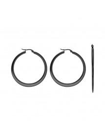 Black steel flat hoops, diameter 4 cm 3131574N One Man Show 19,90€