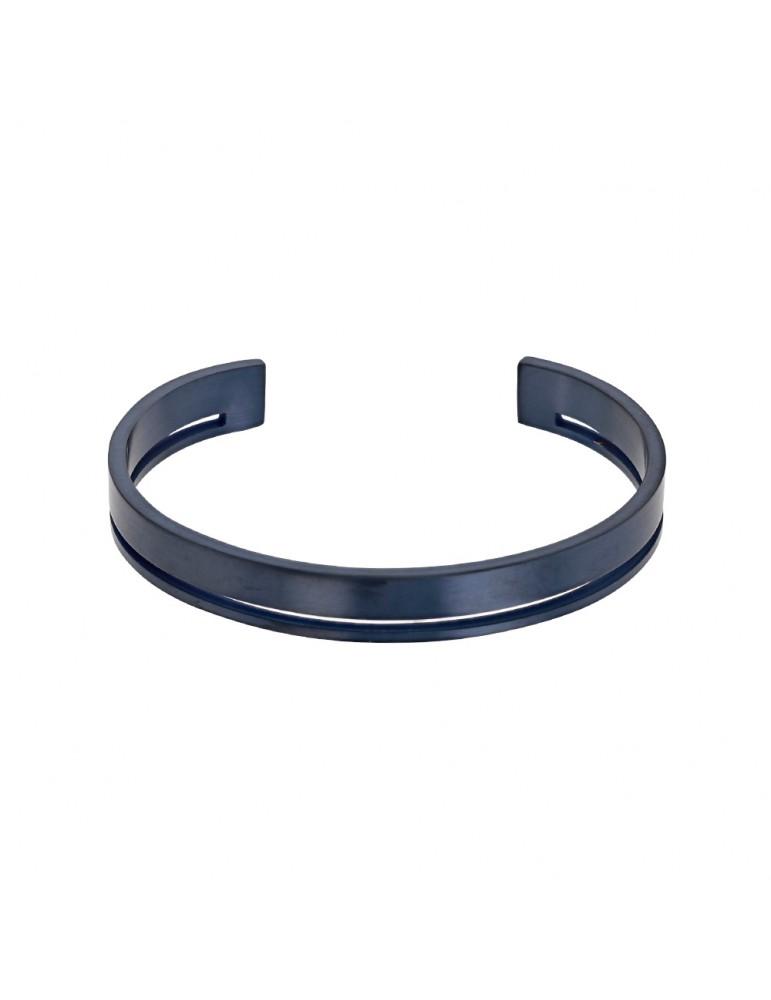 Bracelet rigide ajouré en acier bleu foncé 52,00€ 52,00€