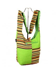 Green Indian messenger bag...