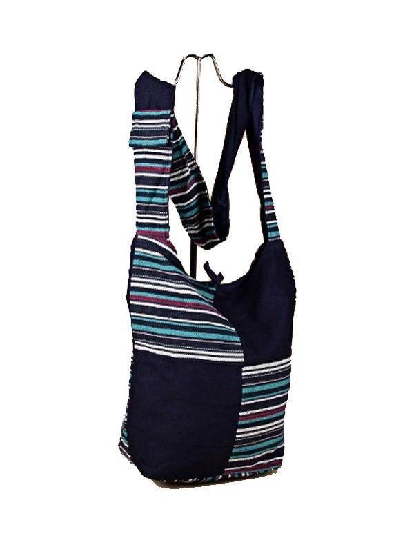 Blue Indian 100% cotton messenger bag 39355 Paris Fashion 18,90€
