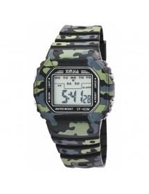 Reloj XINJIA con correa de camuflaje de silicona 2400016-001 XINJIA 16,90€