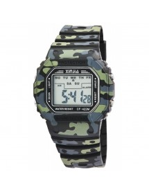 XINJIA watch with camouflage silicone strap 2400016-001 XINJIA 19,90 €