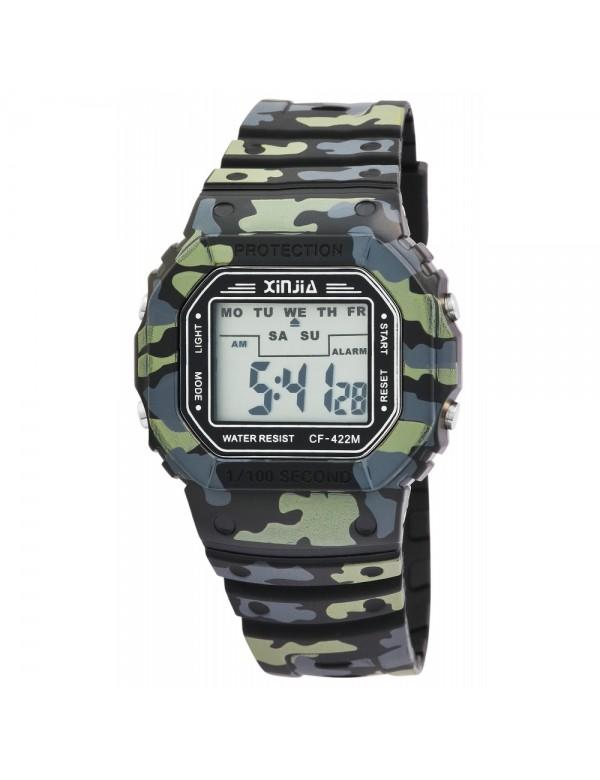 XINJIA watch with camouflage silicone strap 2400016-001 XINJIA 16,90€