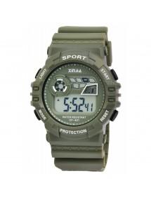 Montre XINJIA avec bracelet en silicone vert olive 2400018-003 XINJIA 19,90€