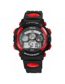Montre numérique Sport XINJIA noir et rouge 2410006-004 XINJIA 20,50€