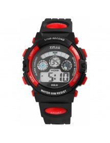 Sport digital watch XINJIA black and red 2410006-004 XINJIA 20,50 €