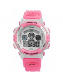 Sport digital watch XINJIA Pink and gray 2410006-006 XINJIA 20,50 €