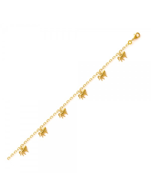 Bracelet with gold-plated horses - 18 cm 328137 Laval 1878 39,90€