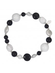 Silver bracelet with Agatha, mother-of-pearl, freshwater pearl 3180349 îlOcéane 29,90 €